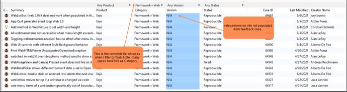 feedback_filtering_version_and_framework