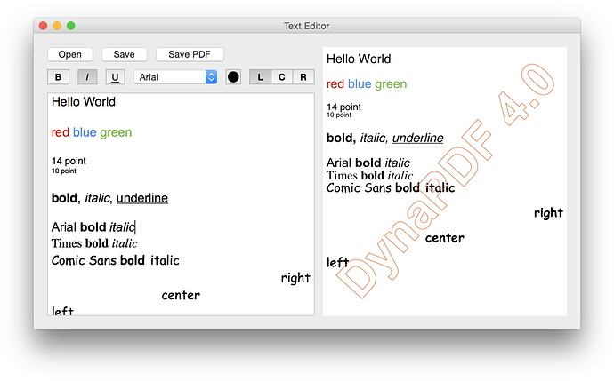 MBS Xojo Plugin with Styled Text to PDF